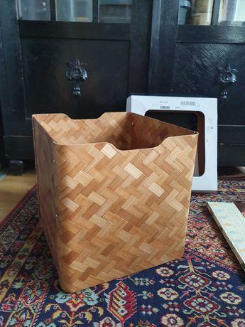IKEA BULLIG pudełko pojemnik bambus brąz jodełka regał kallax