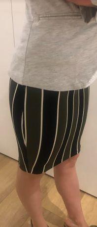 Spódnica ołówkowa H&M paski