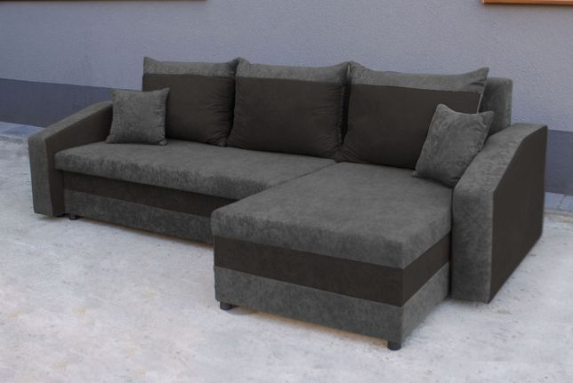Naroznik Grand Kanapa Sofa rogówka z funkcją spania