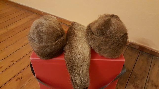 Damskie czapki futrzane z kolnierzem