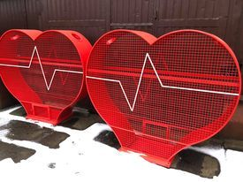 Serce kosz pojemnik na nakrętki