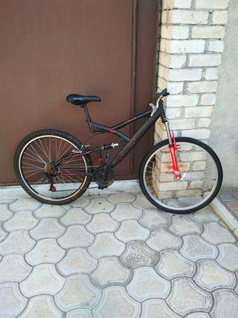 Велосипед двухподвесной, на запчасти или под ремонт.