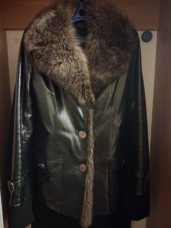 Стильная женская кожаная куртка осень/зима