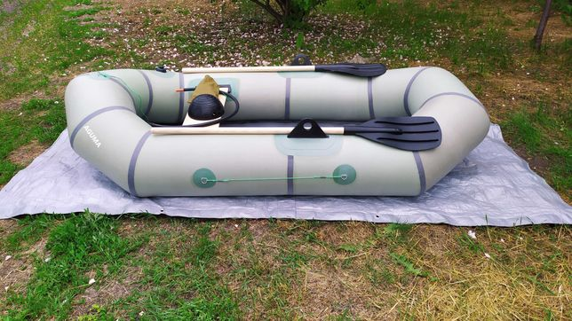 Эрлан 215 новая надувная резиновая лодка 12 мес. гарантии для лодки