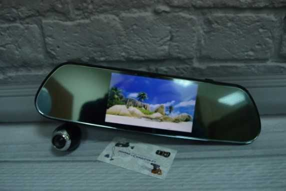 Видеорегистратор на 3 камеры - регистратор новый Зеркало Оригинал
