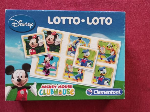 Loto do Mickey Mouse e monopoly júnior
