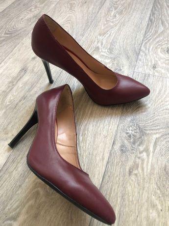 туфли,  бордовые лодочки, 39 размер