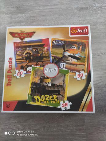 Puzzle 3w1 Autka.