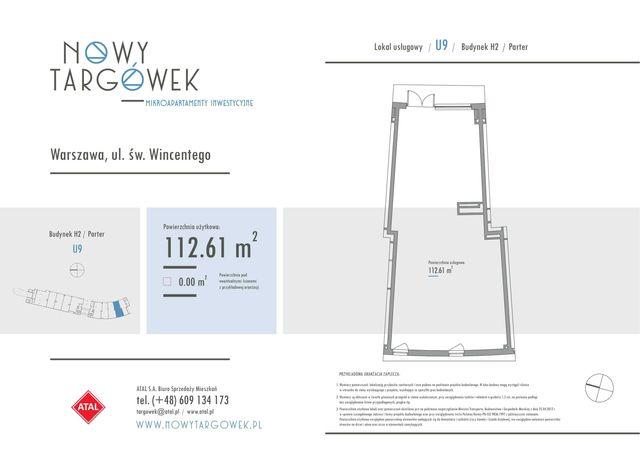 Lokal usługowy 112,61 Nowy Targówek Warszawa (dowolna działalność)