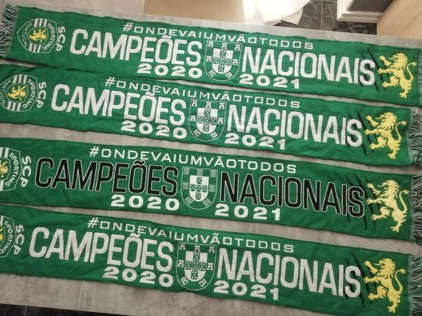 Sporting campeão 20/21 cachecóis, bandeiras, Bonés, camisolas