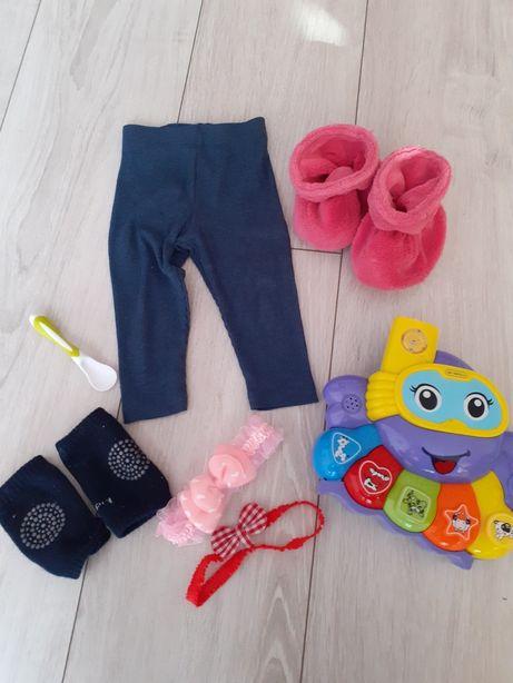 Mix zabawka getry opaski łyżeczka nakolanniki gratis
