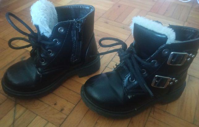 Buty dla dziewczynki jesienno-zimowe rozmiar 27 dł wkładki 15,9 cm