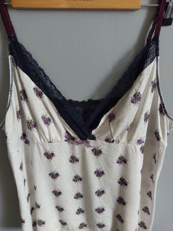 NEXT sexowna piżamka damska koronka piżama koszulka nocna r.L