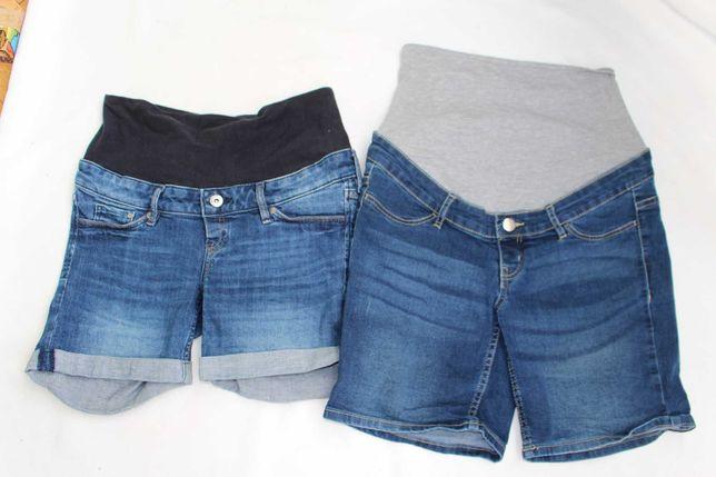 Spodenki jeans szorty ciążowe 36 s