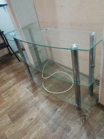 Стеклянный столик/полка/ тумба