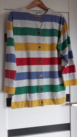 Bluzka rozpinana z przodu kolorowy żakiet 38