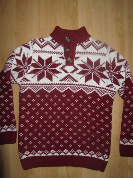 Swetry bordo rozm.140/146 i 128/134