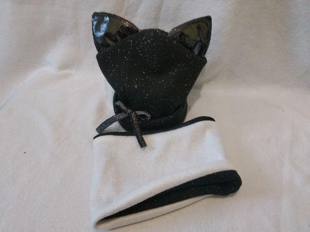 Набір шапка та хомут для дівчинки з люрексом та хлопчика на 2-3 р.