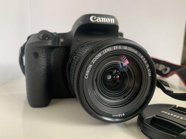 Canon EOS 77d + obiektyw canon 18-55 mm + torba canon