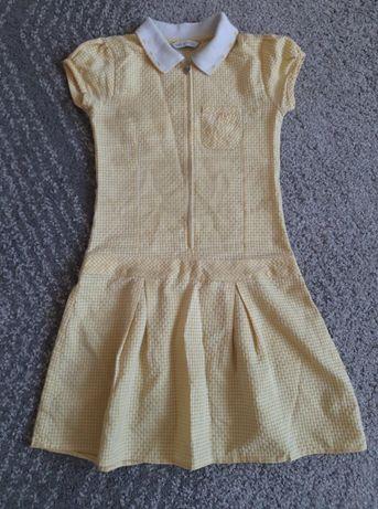 Sukienka RETRO w kratkę M&S na dziewczynkę 134