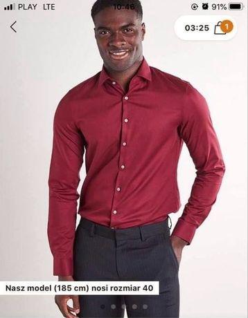 Burgundowa koszula Calvin Klein