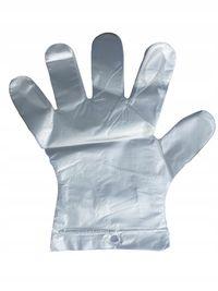 Rękawiczki foliowe jednorazowe zrywki extra mocne 100 sztuk za 0.98PLN
