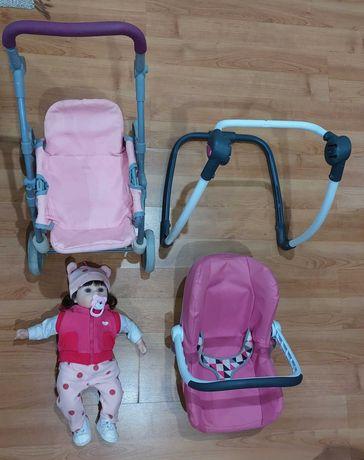 Conjunto Bebé Reborn com carrinho e ovo. boneca em silicone macio