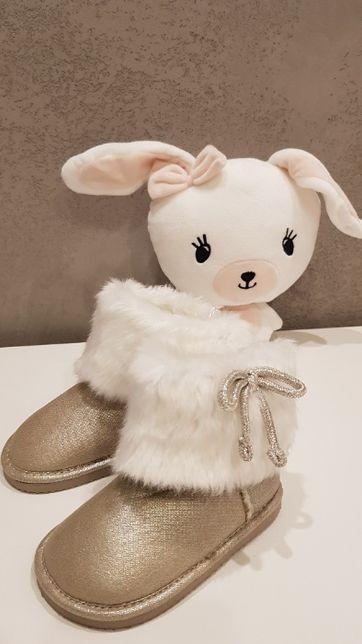 Nowe buty złote kozaki typu EMU H&M 23 wysyłka gratis