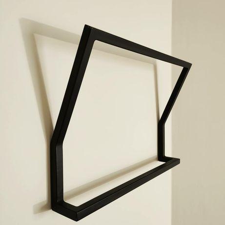 Wieszak łazienkowy loft metalowy czarny biały