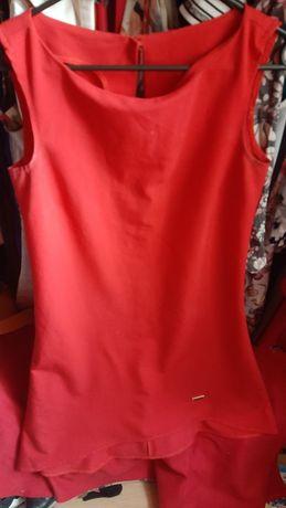 Czerwona sukienka 36 S