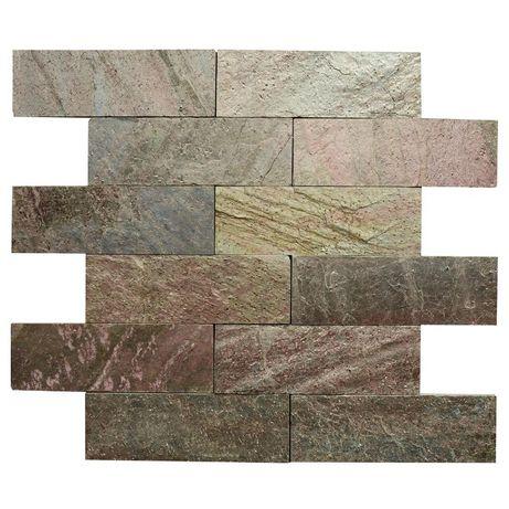 Płytki Łupek Copper 30x10 / elewacja Panel Elewacyjny Miedź Kamień