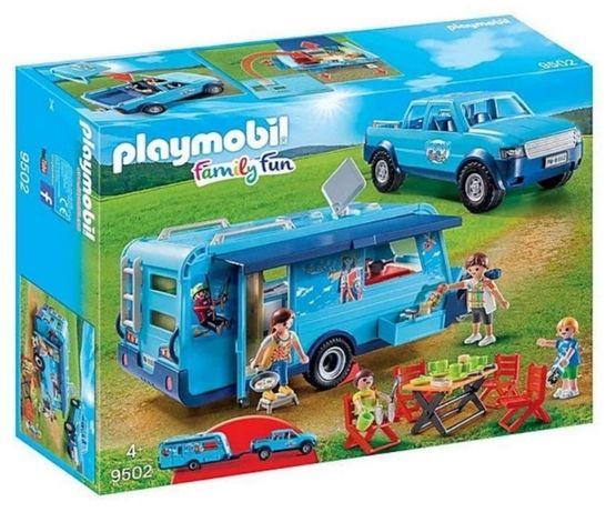 Playmobil Samochód Pickup z przyczepą kempingową 9502 Nowy