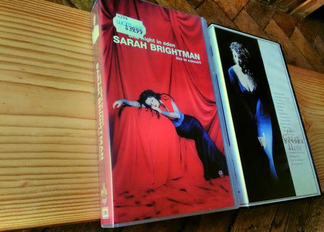 Sandra, 18 Greatest Hits i Sarah Brightman, One night in eden. VHS!