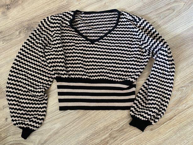 Sweter w paski 36 s nowy