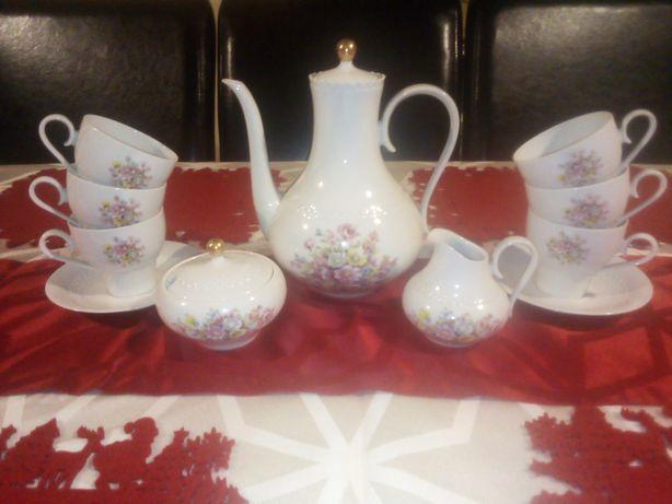 Hutschenreuther 1838 stara porcelana serwis kawowy herbaciany