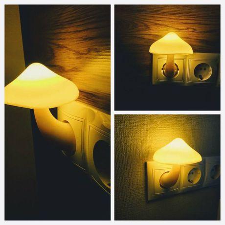 Свитильник ночник в виде гриба