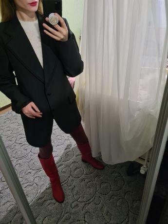 Винтажный удлинённый пиджак, жакет прямой Италия с мужского плеча