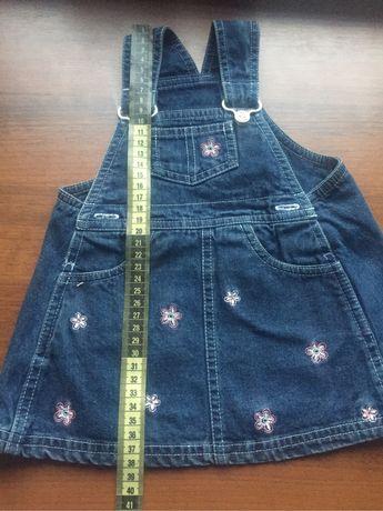 Sukienka M&S rozmiar 68 jeansowa na szelkach
