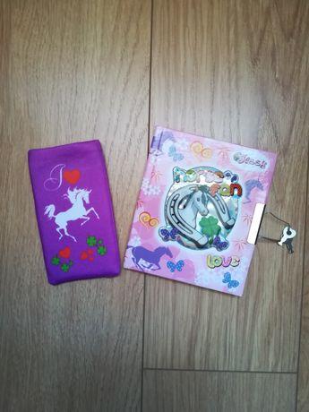 Zestaw pamiętnik i etui na telefon