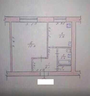Продам 1 комнатную с нишей