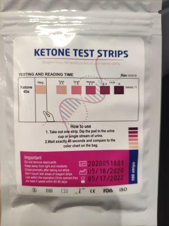 Paski testowe sprawdzające poziom ketozy