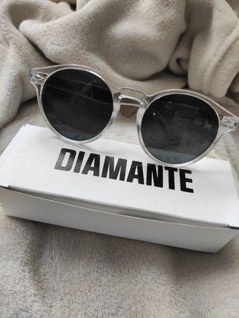 Nowe okulary przeciwsłoneczne lenonki przeźroczyste Diamante