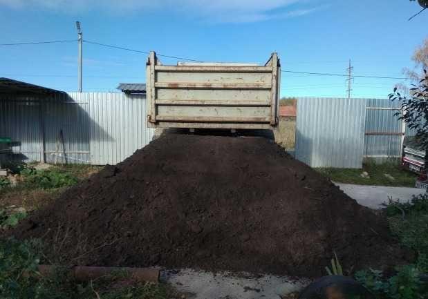 Торф земля чернозем коровий навоз перегной в мешках и самосвалами