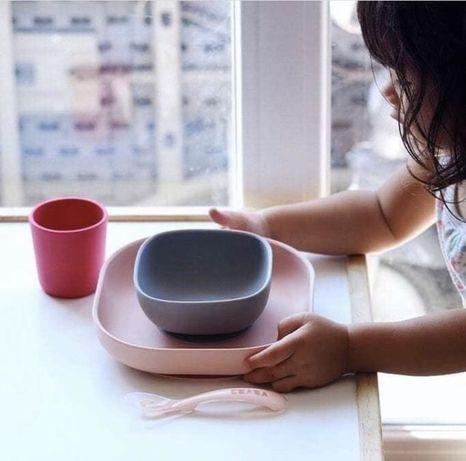 Набор силиконовой посуды Beaba Babycook, набір посуди для дитини Beaba