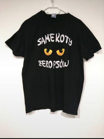 Koszulka męska Same koty zero psów męska rozmiar M