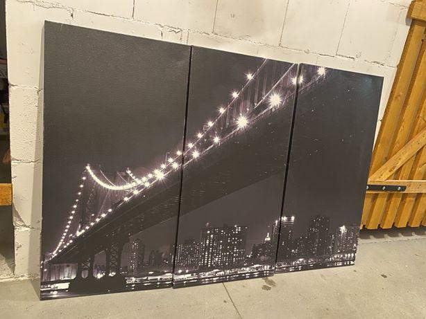 Obraz tryptyk 3 czesci Nowy York most