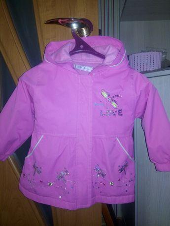 Куртка курточка пальто плащик на флисе на 2-3 года 92—98 рост