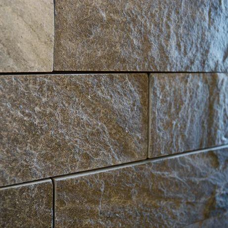 PŁYTKA -10x30x0,8-1,3 kamień –Łupek kwarcytowy GREY szaro-srebrny