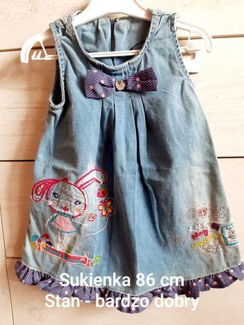 Sukienka jeansowa na ramiączka 86 cm