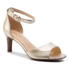 nowe sandały na ślub CLARKS LAURETI GRACE champagne 38 wesele złote
